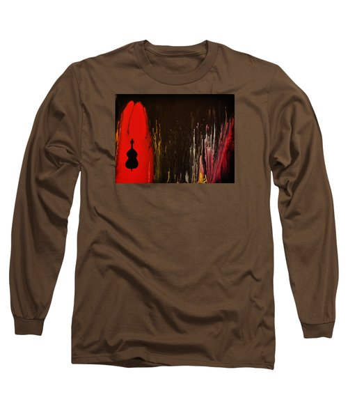 Long Sleeve T-Shirt featuring the painting Mingus by Michael Cross