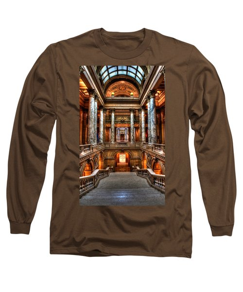 Minnesota State Capitol St Paul Long Sleeve T-Shirt by Amanda Stadther