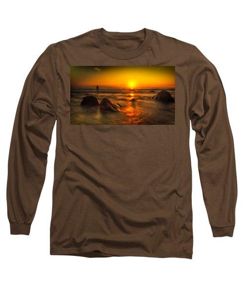 Montauk New York Summer Sunrise Long Sleeve T-Shirt