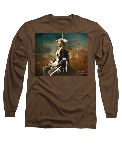 Native Honor Long Sleeve T-Shirt by Lianne Schneider