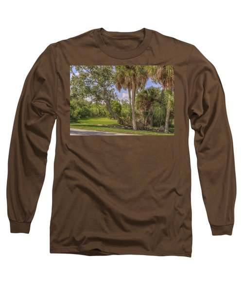 Long Sleeve T-Shirt featuring the photograph Oak Trees by Jane Luxton