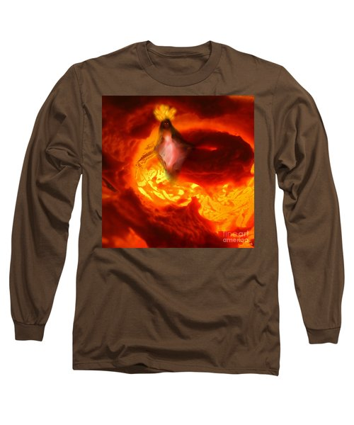 Pele Goddess Of Fire And Volcanoes Long Sleeve T-Shirt by Steed Edwards