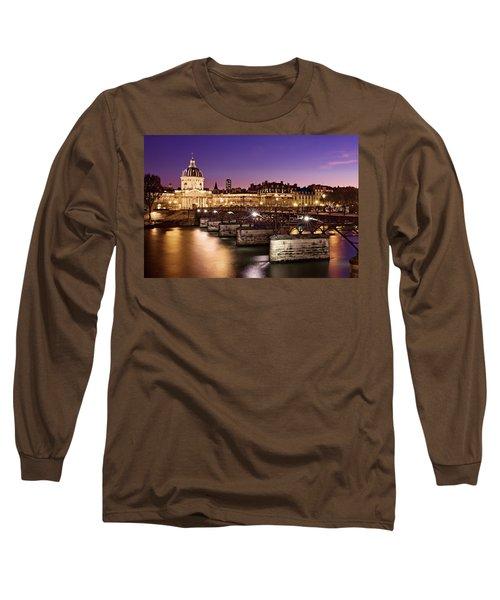 Pont Des Arts And Institut De France / Paris Long Sleeve T-Shirt