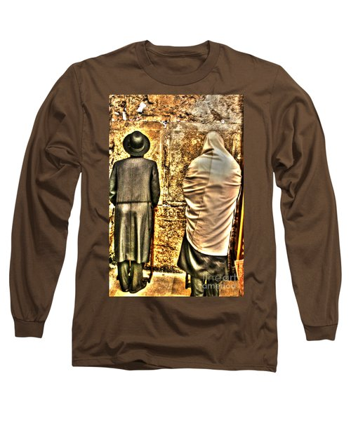 Long Sleeve T-Shirt featuring the photograph Praying At The Western Wall by Doc Braham
