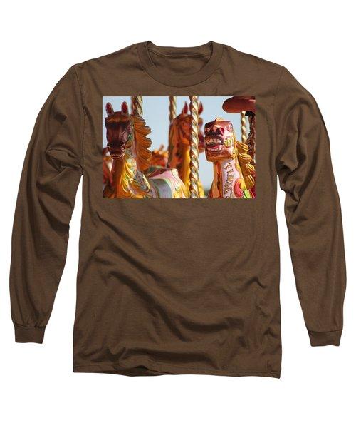 Pretty Carousel Horses Long Sleeve T-Shirt