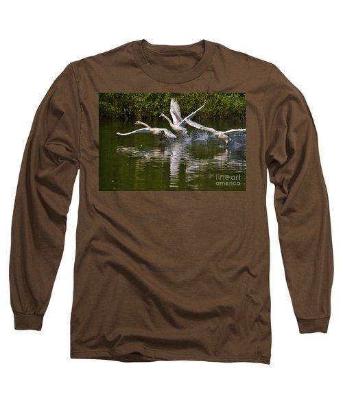 Swan Take-off Long Sleeve T-Shirt