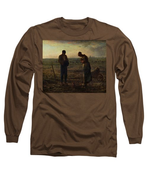 The Angelus Long Sleeve T-Shirt by Jean Francois Millet