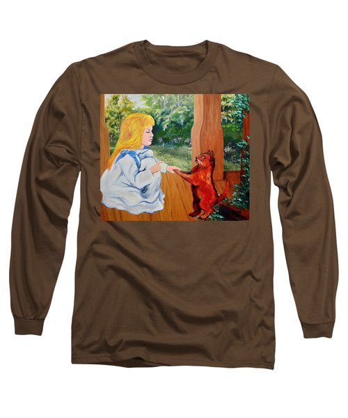 Long Sleeve T-Shirt featuring the painting The Dance Lesson by Karon Melillo DeVega