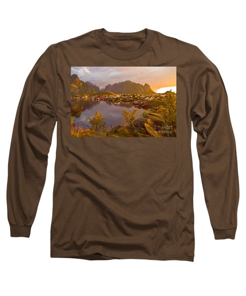 The Day Begins In Reine Long Sleeve T-Shirt by Heiko Koehrer-Wagner