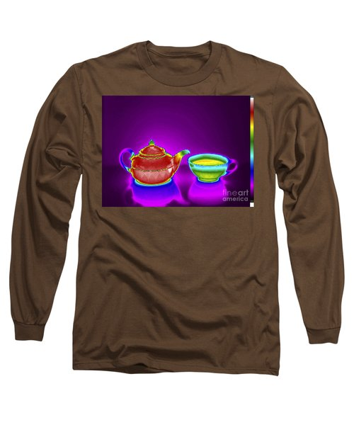 Thermogram Of Teapot And Teacup Long Sleeve T-Shirt