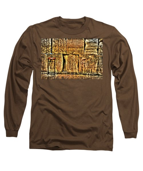 Long Sleeve T-Shirt featuring the photograph Wailing Wall by Doc Braham