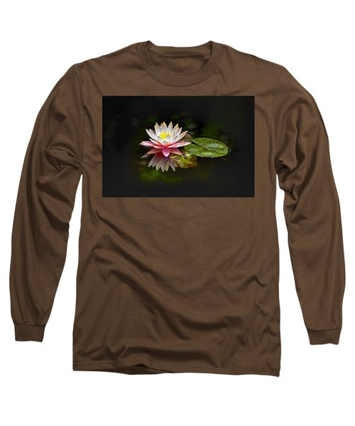 Water Lily Long Sleeve T-Shirt by Bill Barber