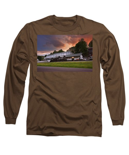 Cass Scenic Railroad Long Sleeve T-Shirt by Mary Almond