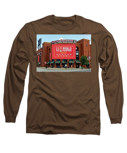 11 Time World Champion St Louis Cardnials Dsc01294 Long Sleeve T-Shirt by Greg Kluempers