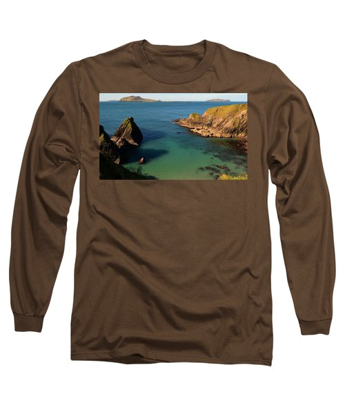 Blasket Islands Long Sleeve T-Shirt by Barbara Walsh