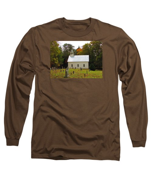Cade's Cove 1902 Methodist Church Long Sleeve T-Shirt by Kathy Long