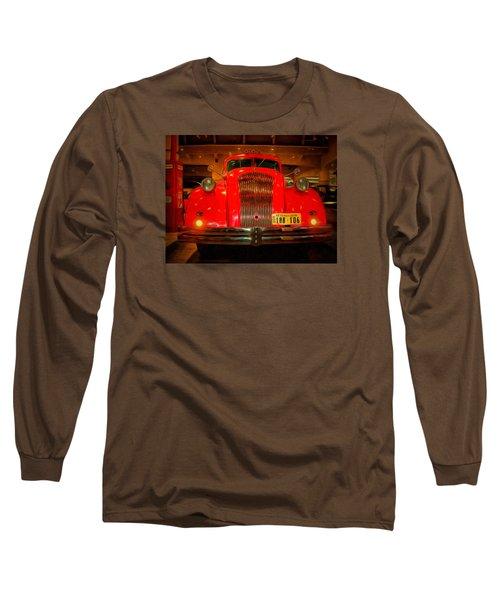 Long Sleeve T-Shirt featuring the photograph 1939 World's Fair Fire Engine by MJ Olsen