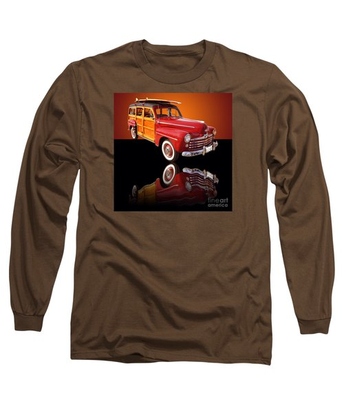 1947 Ford Woody Long Sleeve T-Shirt by Jim Carrell