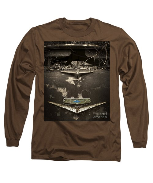 1956 Chevrolet Rust Bucket Sepia Toned Long Sleeve T-Shirt