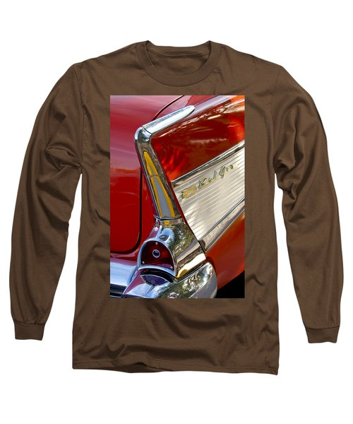 1957 Chevrolet Belair Taillight Long Sleeve T-Shirt by Jill Reger