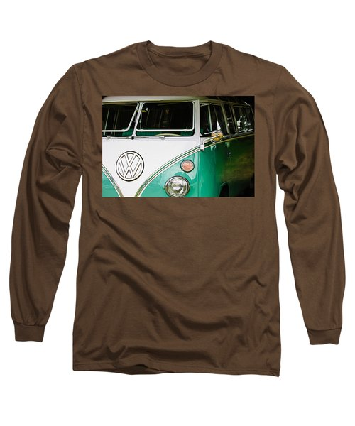1964 Volkswagen Vw Samba 21 Window Bus Long Sleeve T-Shirt
