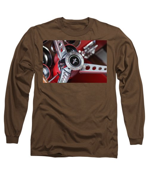 1969 Ford Mustang Mach 1 Steering Wheel Long Sleeve T-Shirt
