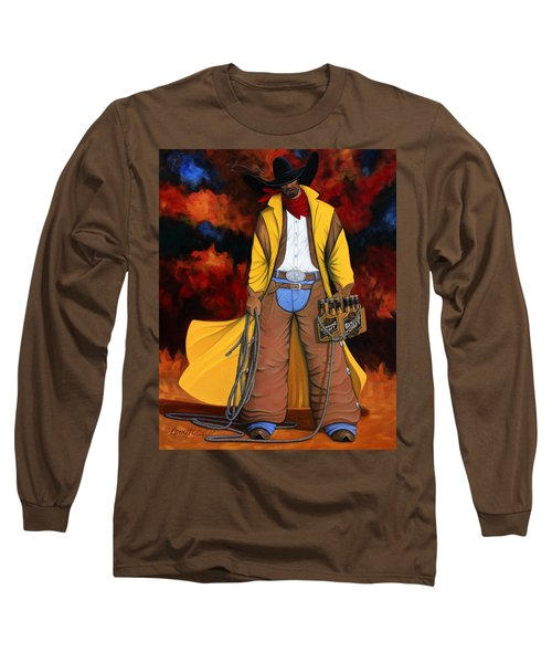 Long Sleeve T-Shirt featuring the painting 10 Pac by Lance Headlee