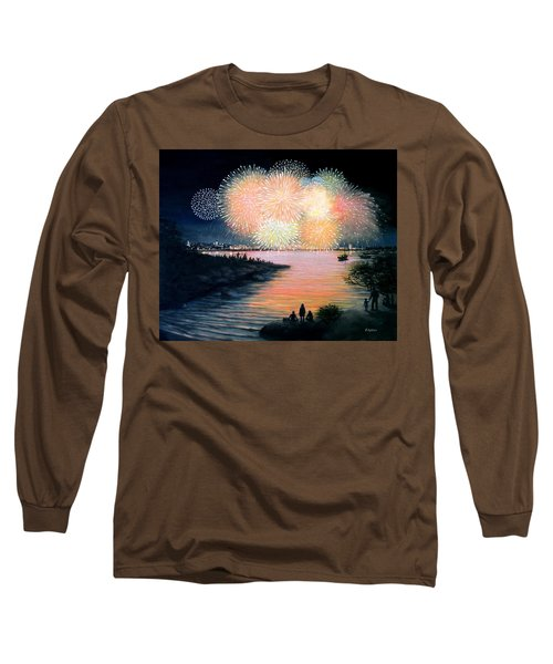 4th Of July Gloucester Harbor Long Sleeve T-Shirt by Eileen Patten Oliver