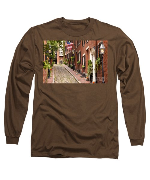 Acorn Street Boston Long Sleeve T-Shirt