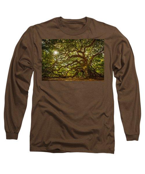 Angel Oak Long Sleeve T-Shirt by Serge Skiba