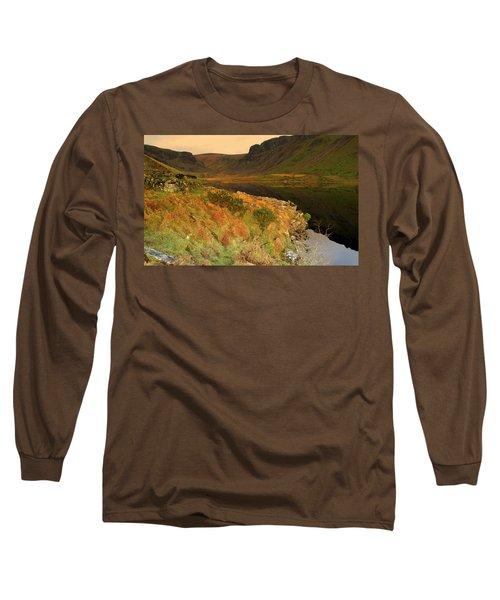 Annascaul Lake Long Sleeve T-Shirt by Barbara Walsh