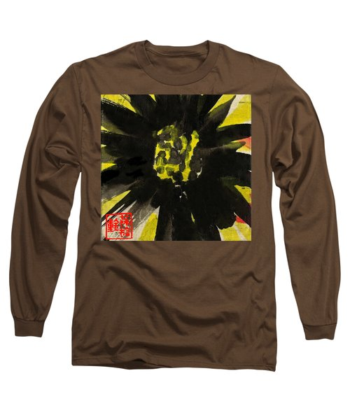 Long Sleeve T-Shirt featuring the painting Asian Sunflower by Joan Reese