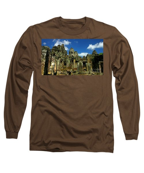 Long Sleeve T-Shirt featuring the photograph Bayon Temple by Joey Agbayani
