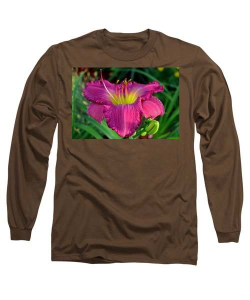 Long Sleeve T-Shirt featuring the photograph Bela Lugosi Daylily by Suzanne Stout