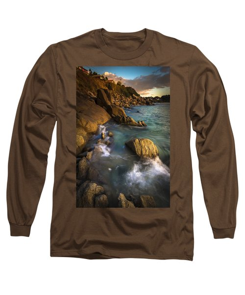 Chanteiro Beach Galicia Spain Long Sleeve T-Shirt by Pablo Avanzini