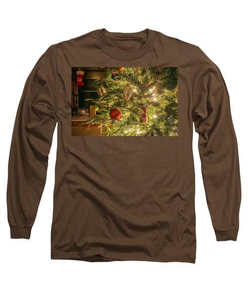 Long Sleeve T-Shirt featuring the photograph Christmas Tree Ornaments by Alex Grichenko