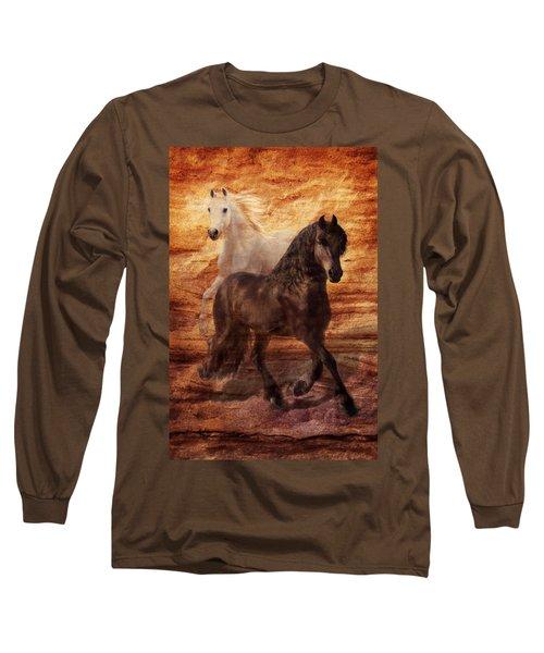 Ebony And Ivory Long Sleeve T-Shirt