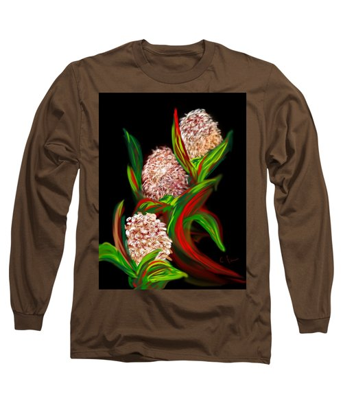 Long Sleeve T-Shirt featuring the digital art Hyacinth by Christine Fournier