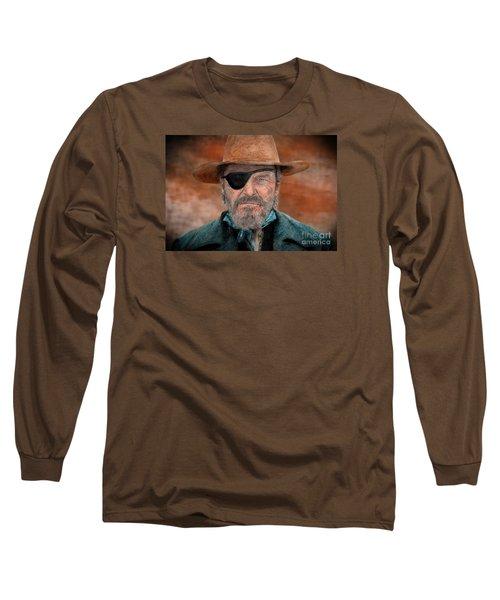 Jeff Bridges As U.s. Marshal Rooster Cogburn In True Grit  Long Sleeve T-Shirt by Jim Fitzpatrick