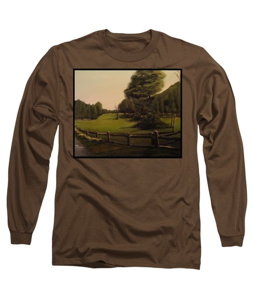 Landscape Of Duxbury Golf Course - Image Of Original Oil Painting Long Sleeve T-Shirt