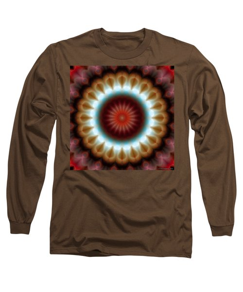 Long Sleeve T-Shirt featuring the digital art Mandala 83 by Terry Reynoldson