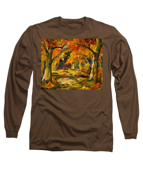 Our Place In The Woods Long Sleeve T-Shirt by Mary Ellen Anderson