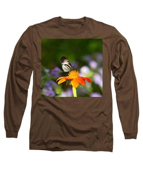 Piano Key Butterfly Long Sleeve T-Shirt