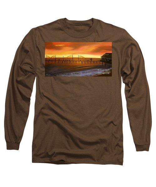 Redondo Beach Pier At Sunset Long Sleeve T-Shirt