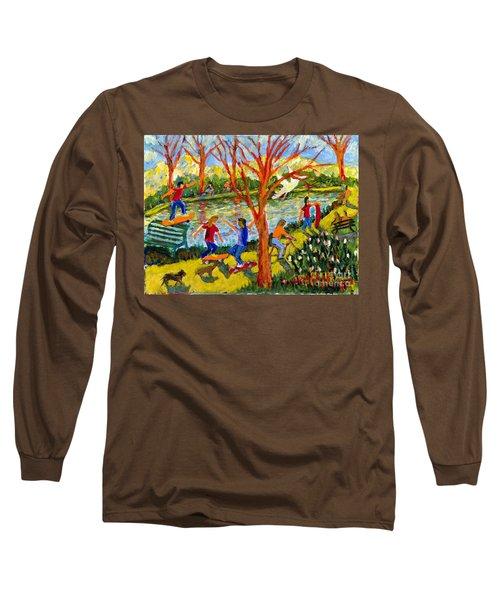Skateboarders Long Sleeve T-Shirt