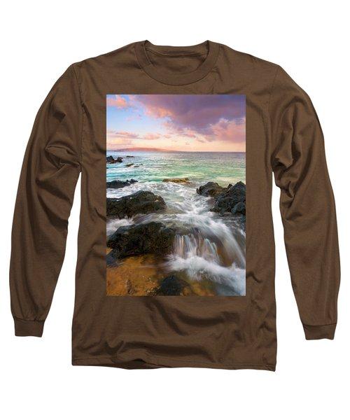 Sunrise Surge Long Sleeve T-Shirt by Mike  Dawson