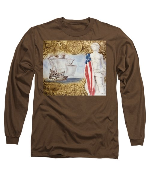 Visions Of Discovery Long Sleeve T-Shirt by Rich Milo