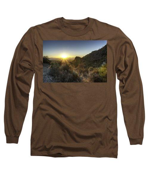 Winter Sunset Long Sleeve T-Shirt by Lynn Geoffroy