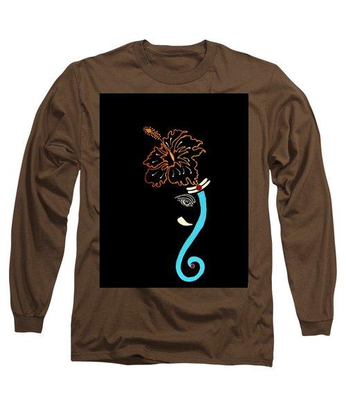 27 Mundakarama Ganesh Long Sleeve T-Shirt by Kruti Shah