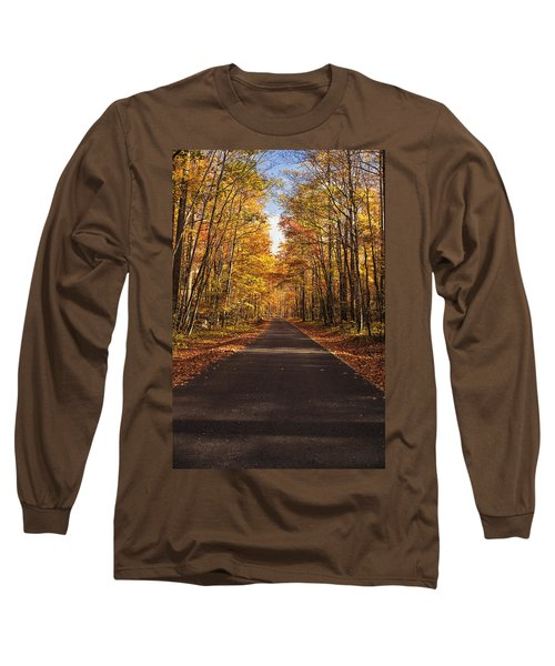 Long Sleeve T-Shirt featuring the photograph Autumn Drive by Andrew Soundarajan